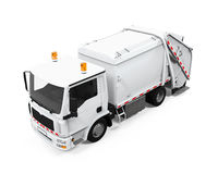被隔绝的垃圾车 免版税库存图片