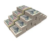 被隔绝的堆1000日元 库存照片