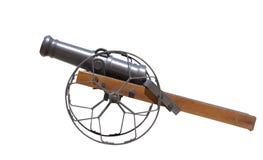 被隔绝的大炮枪 免版税库存图片