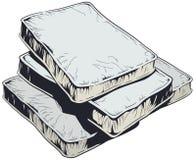 被隔绝的床垫储蓄例证 库存例证