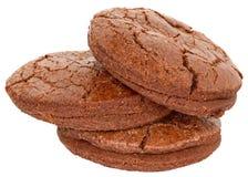 被隔绝的开胃巧克力曲奇饼 免版税图库摄影