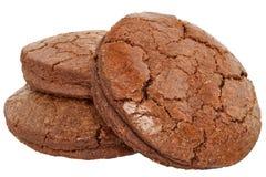 被隔绝的开胃巧克力曲奇饼 库存照片