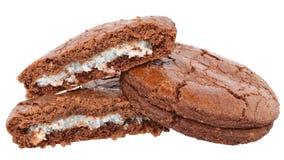被隔绝的开胃巧克力曲奇饼 免版税库存照片