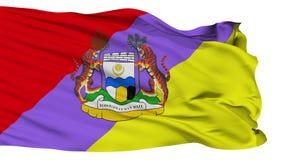 被隔绝的怡保霹雳州市旗子,马来西亚 向量例证