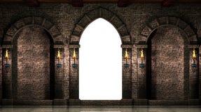 被隔绝的曲拱和门 库存照片
