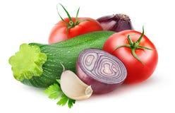 被隔绝的未加工的蔬菜混合 库存图片