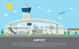 被隔绝的机场集合、安全、控制,门和检查 库存照片