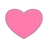 被隔绝的桃红色心脏传染媒介 免版税库存照片