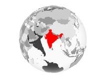 被隔绝的灰色地球的印度 库存例证