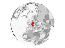 被隔绝的灰色地球的德国 库存例证