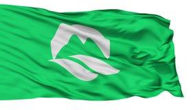 被隔绝的矿城市旗子,专区山口,日本 库存例证