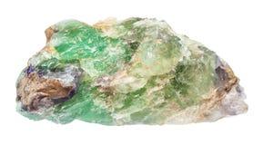 被隔绝的粗砺的绿色绿玉宝石 库存图片