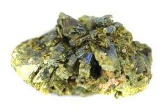 被隔绝的绿帘石矿物 免版税库存照片