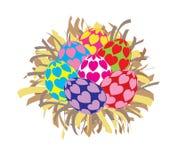 被隔绝的美丽的五颜六色的复活节彩蛋 免版税库存照片