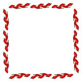 被隔绝的胡椒方形的框架在白色背景的 库存例证