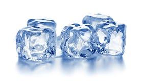 被隔绝的蓝色冰块堆  库存图片