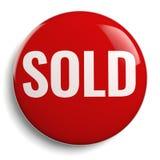 被隔绝的被卖的红色圆的标志 免版税库存照片