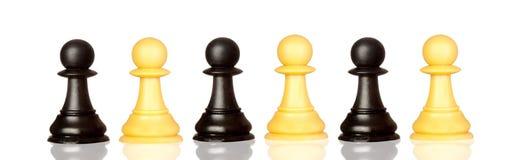 被隔绝的西洋棋棋子 图库摄影