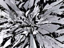 被隔绝的锋利的打破的或被打碎的玻璃 向量例证