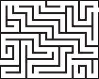 被隔绝的长方形迷宫 库存图片