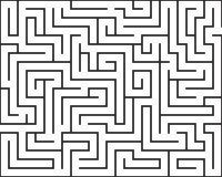 被隔绝的长方形迷宫 库存照片
