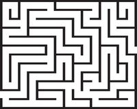 被隔绝的长方形迷宫 免版税库存照片