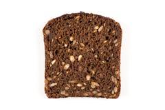 被隔绝的黑面包切片 免版税库存图片