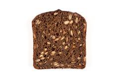 被隔绝的黑面包切片 库存照片