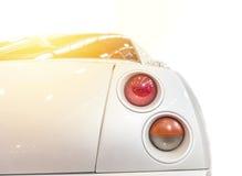 被隔绝的一辆白色汽车 图库摄影