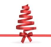 从被隔绝的丝带的圣诞树 免版税库存图片