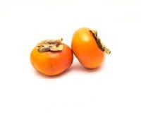 被隔绝的两扶余柿子 免版税图库摄影