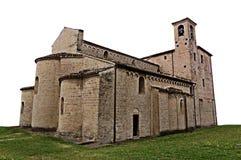 被隔绝的中世纪教会 库存照片
