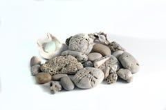 被隔绝的五颜六色的小卵石 免版税图库摄影