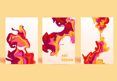 被隔绝的五颜六色的抽象液体墨水 现代样式趋向 免版税图库摄影
