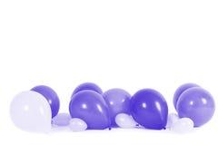 被隔绝的五颜六色的气球 免版税库存图片