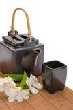被隔绝的亚洲茶具 免版税库存图片