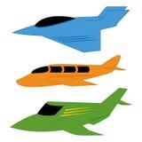 被隔绝的传染媒介套不同的五颜六色的飞机 库存例证