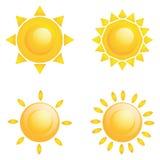 被隔绝的传染媒介套不同的抽象太阳 皇族释放例证