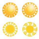 被隔绝的传染媒介套不同的抽象太阳 向量例证