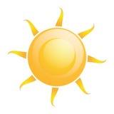 被隔绝的传染媒介抽象太阳象 皇族释放例证