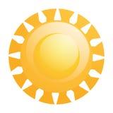 被隔绝的传染媒介抽象太阳象 库存例证