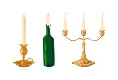 被隔绝的传染媒介蜡烛 皇族释放例证