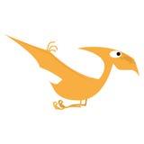 被隔绝的传染媒介逗人喜爱的动画片橙色恐龙 皇族释放例证