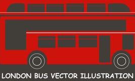 被隔绝的伦敦红色公共汽车传染媒介例证 免版税图库摄影