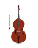 被隔绝的低音提琴 免版税库存图片