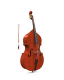 被隔绝的低音提琴 库存照片