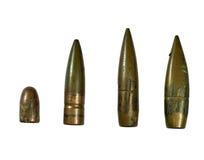 被隔绝的使用的子弹 库存图片