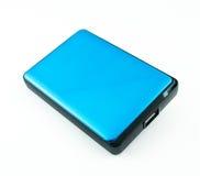 被隔绝的便携式外在硬盘盘 免版税图库摄影