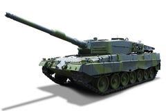 -被隔绝的俄国坦克 库存图片