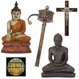 -被隔绝的保险开关的宗教对象 免版税库存照片